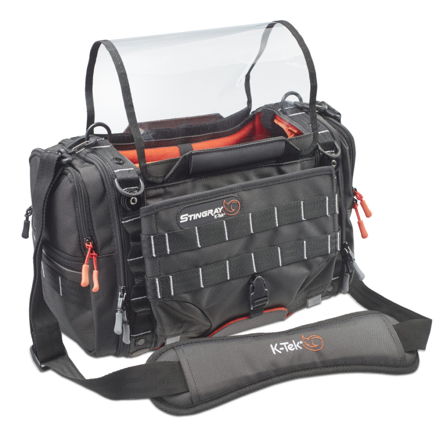 Main View of Stingray KSTGSX Bag with shoulder strap and clear shield
